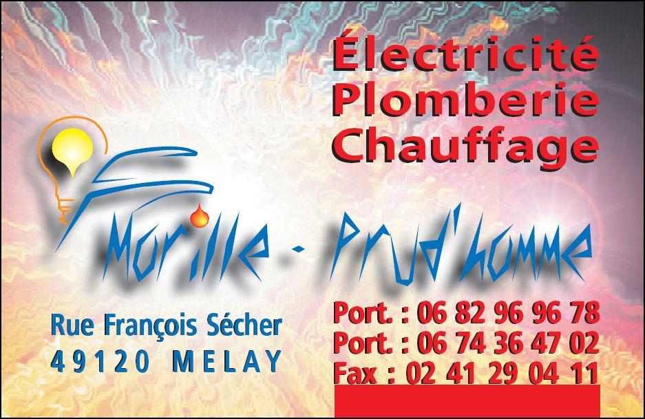 logo-Morille Prud'homme   Électricien - Plombier - Melay - Chemillé